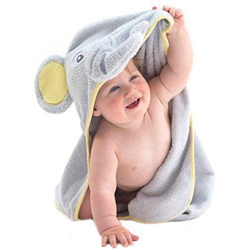 Baby Cotton Hooded Towel Bath Natural Soft Boys Infant Elephant Shower Gift NEW #BabyCottonHoodedTowel
