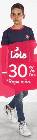 30% de descuento en ropa de niño Disfruta de un 30% de descuento en una gran selección de ropa de niño en la tienda online de Lois Jeans.  #circulogpr #childishshopping #loisjeans #ofertas #rebajas