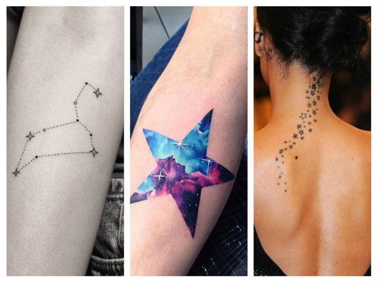 Delicati e originali tatuaggi con stelle e costellazioni 29