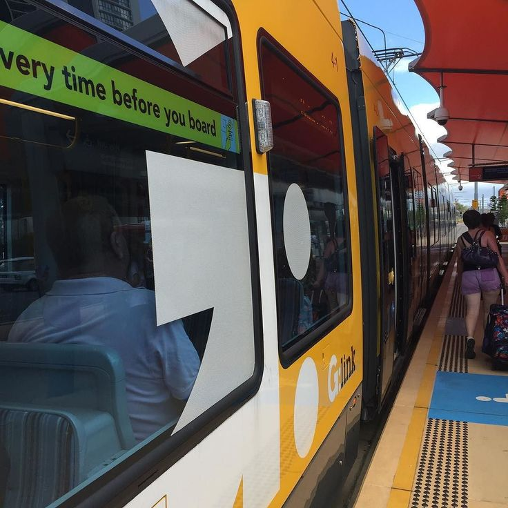 G tram on the Gold Coast from Broadbeach. #ourgoldcoast #gettingaroundgc