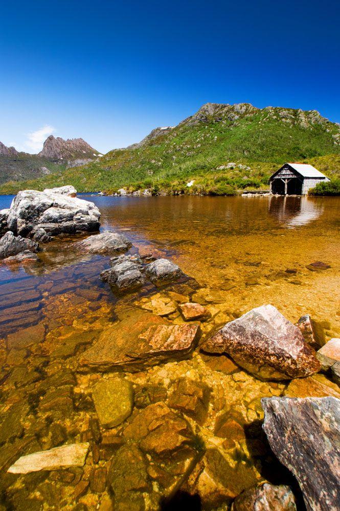 Tasmania, Australia Boat shed -  Lake St Clair