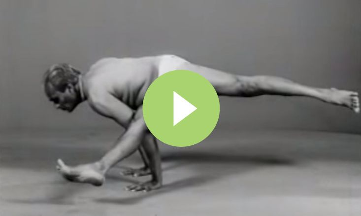 In this video from 1977, B.K.S. Iyengar flows through various poses, in a cadence revealing his mastery and control of asana, body, mind, and breathing.