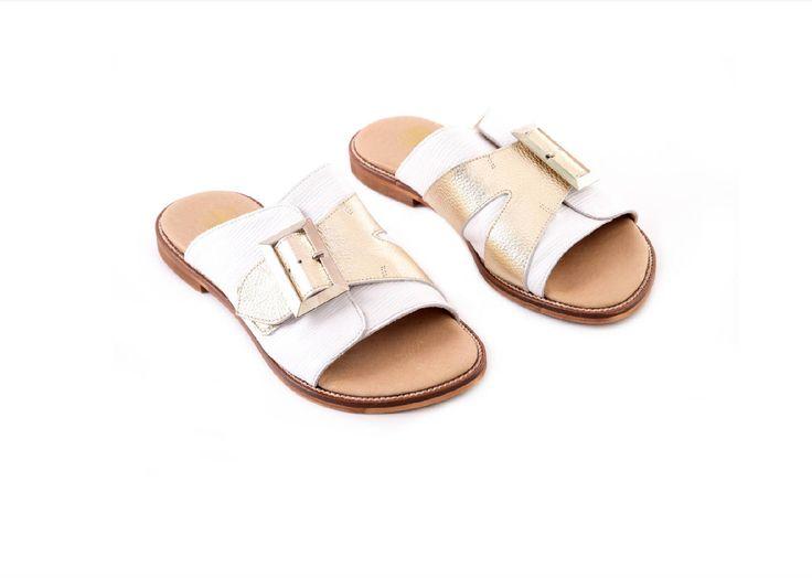 SALE, New! Grey Leather Sandals, Handmade Sandals, Flat Sandals, Grey Summer Shoes, Slide Sandals, Toe Ring Sandals