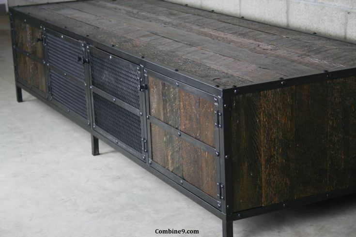 This reclaimed wood media console can be customized in many different ways. It can be made using any reclaimed wood seen on our site.