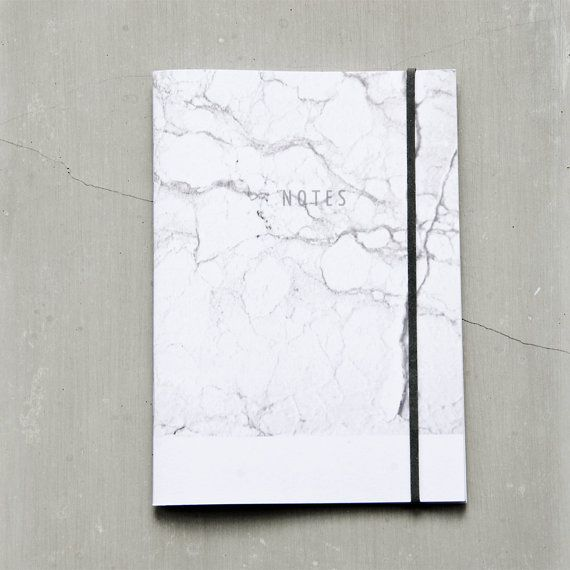 Venice Marble Notebook, Marble Journal, small black and white minimal notebook, modern A6 recycled paper pocket journal