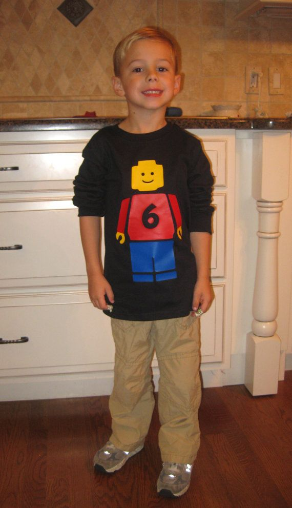 Personalized Long Sleeve Lego Minifigure Shirt by thetrendyturnip, $27.00