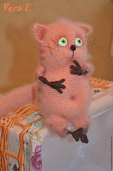 Просто потрясающий мастер-класс по вязаному котику!