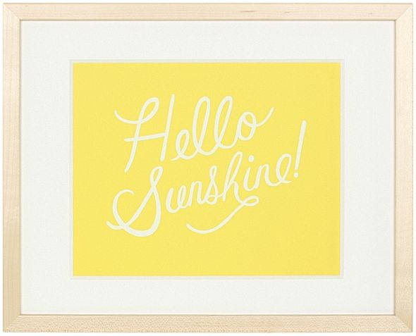 """Hello Sunshine"" by Anna Bond, $99, 12"" x 15"", available at Serena & Lily. #serenaandlily"
