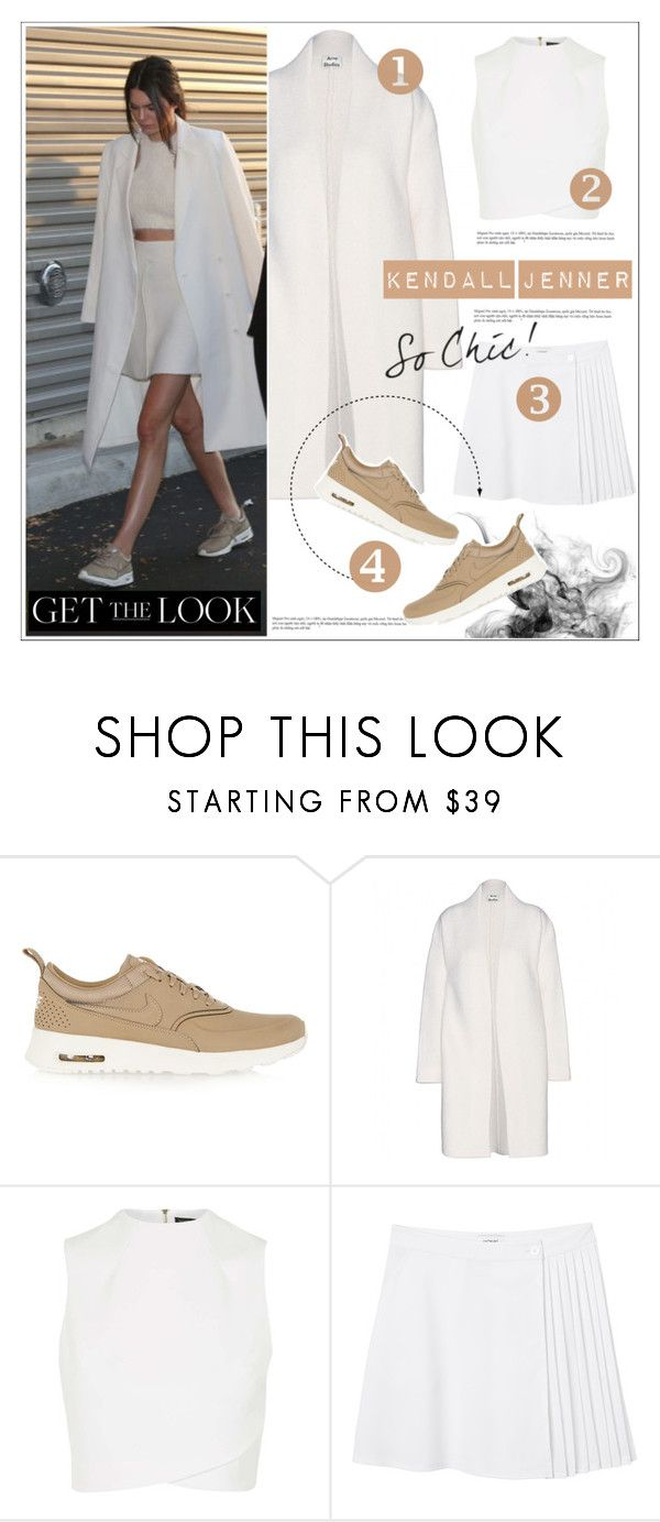 """Kendall Jenner - Sneakers"" by deeyanago ❤ liked on Polyvore featuring Stila, NIKE, Acne Studios, Topshop and Monki"