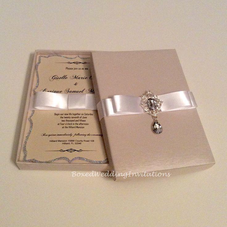 Silk invitation box See more at wwwboxedweddinginvitationscom