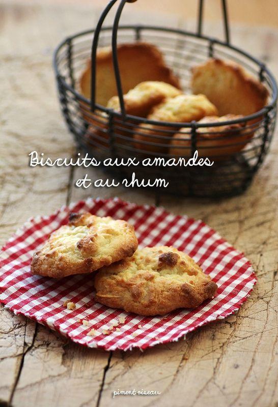 Biscuits aux amandes et rhum (2 jaunes)