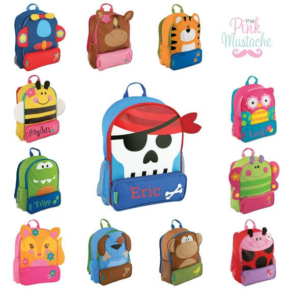 Personalized Embroidered Backpack / Stephen Joseph / Toddler / Little Kid Backpack / Sidekick Backpack