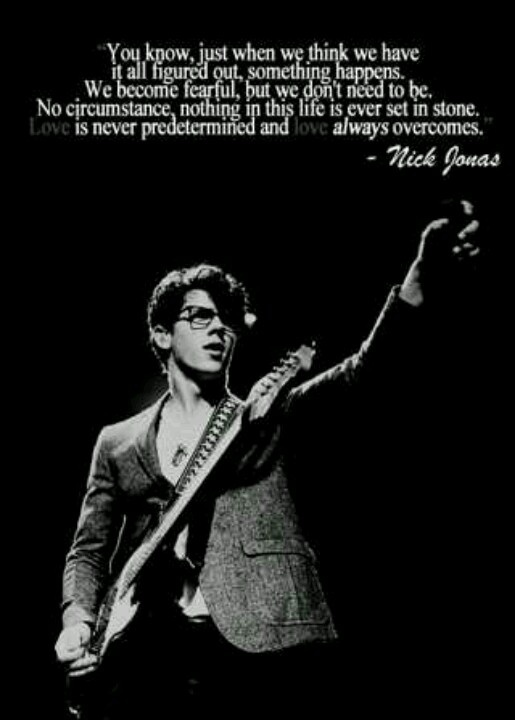 One of my favorite quotes from Nick ❤
