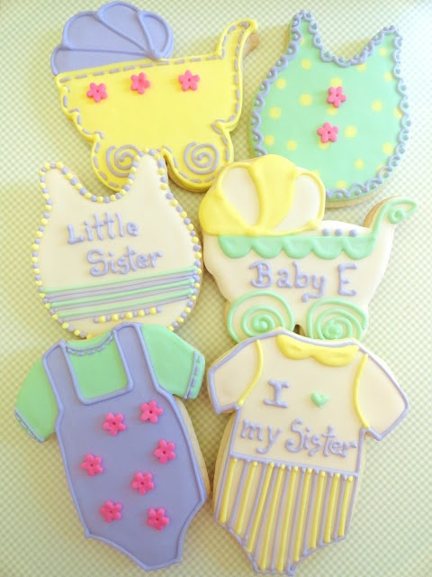 Pink Little Cake: Pastel Baby Shower Cookies