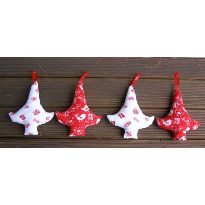 christmas tree ornaments, www.blacktulipquilts.com.au