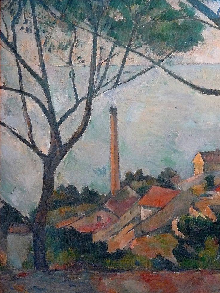 Cézanne à Pissarro : « il y a des motifs qui demanderaient trois ou quatre mois de travail, qu'on pourrait trouver, car la végétation n'y change pas. Ce sont des oliviers et des pins qui gardent toujours leurs feuilles. » (L'Estaque, 2 juillet 1876)  + PICTURES OF DETAILS AND CEZANNE'S OWN WORDS :  www.flickr.com/photos/144232185@N03/collections/721576722...