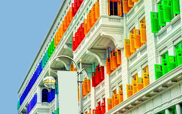Colourful shutters-MITA Building Singapore  by S e i n on 500px