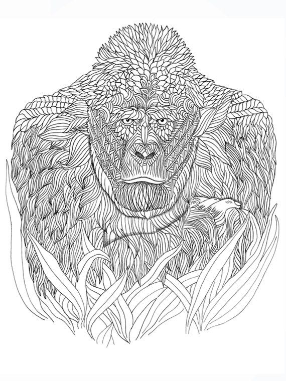 Gorilla Coloring page Animal