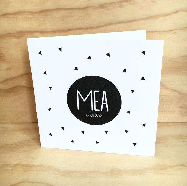 Geboortekaartje schattig, stoer meisje. (Of jongen) Super leuk om confetti toe te voegen in de envelop!