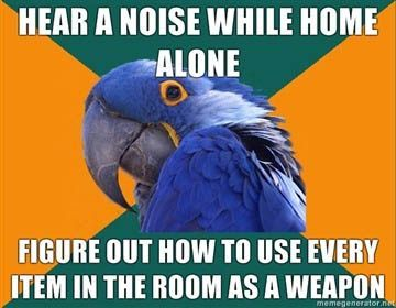 Especially when it's dark: That, Courses, Basic, Absolutely, My Life, Bahaha, Accur, Birds, Paranoid Parrots