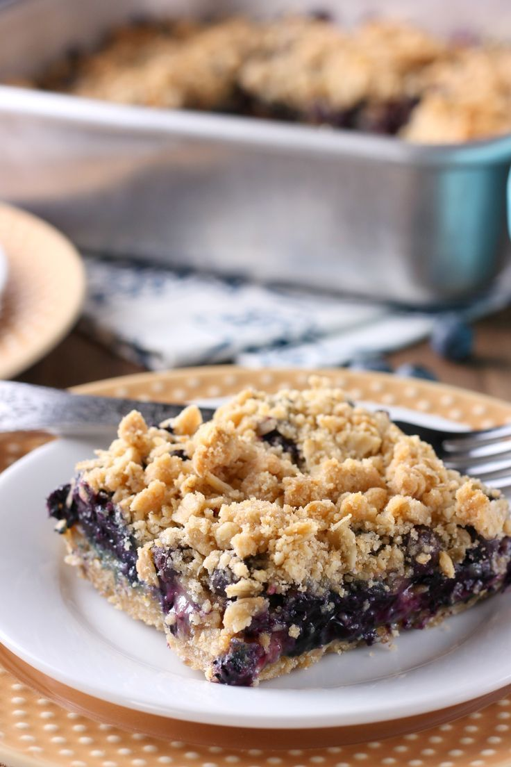 Blueberry Crisp Bars Recipe from A Kitchen Addiction