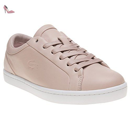 Lacoste Straight Set Femme Baskets Mode Nude - Chaussures lacoste (*Partner-Link)