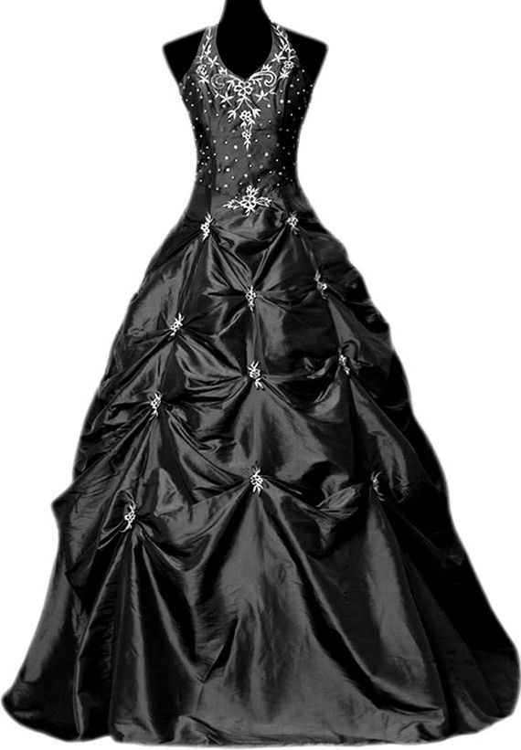 Gothic black wedding gown from battypottaty on #Etsy. If I get married, I'll be wearing something like this!