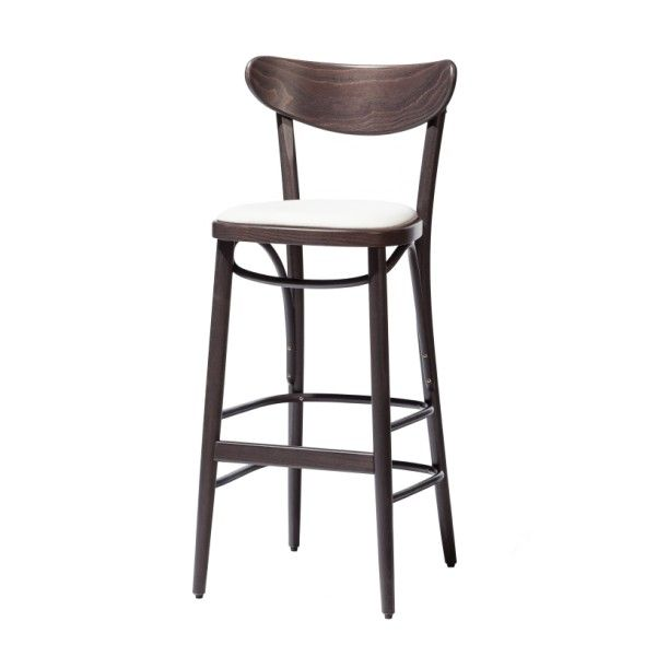 Krzesło barowe BANANA tapicerowane wysokie lub niskie
