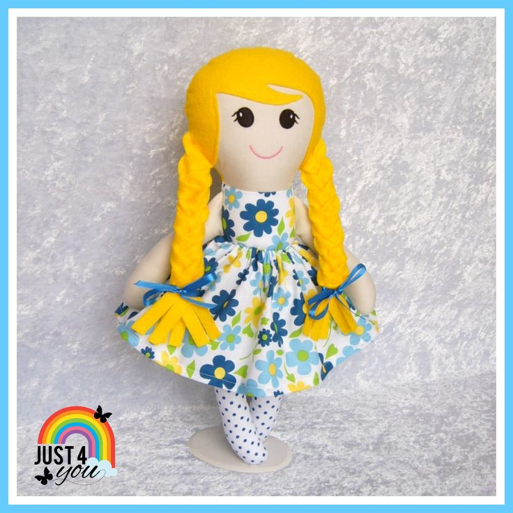 I love the colours on this pretty Big Sister Doll, she's gorgeous & stands approx 50cms tall.  So pretty & still available to purchase  :) http://www.facebook.com/Just4YouNZ