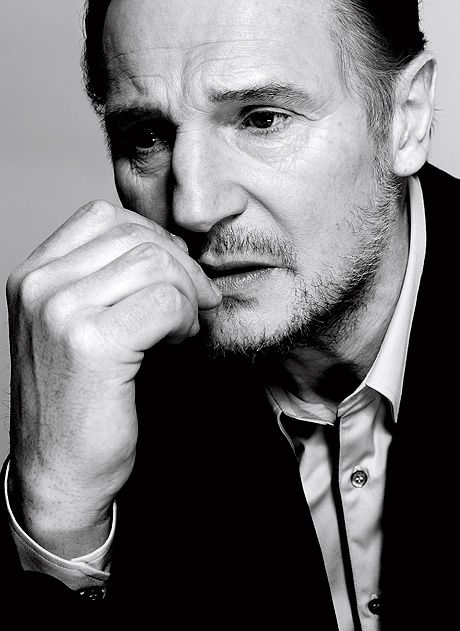 "Liam Neeson. ""Some mornings you wake up and think, gee I look handsome today. Other days I think, what am I doing in the movies? I wanna go back to Ireland and drive a forklift."""