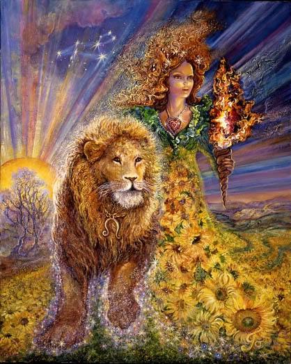 Astrology - Leo - the lion - zodiac - art