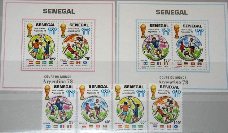 SENEGAL 1978 671-74 Block 31-32 481-486 Soccer World Cup Fußball WM Football MNH    eBay