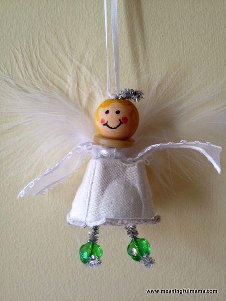 Meaningful Mama: Day #351 - Christmas Angel Egg Carton Craft