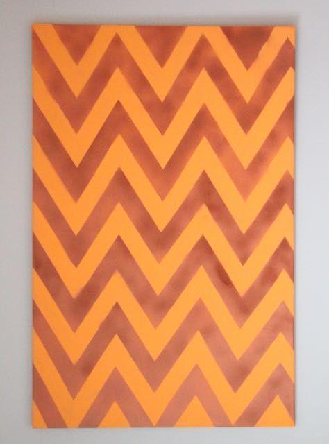 Oranje koper Chevron