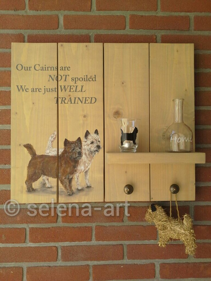 Wandbord met Mungo en Selena