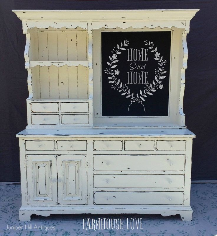 A personal favorite from my Etsy shop https://www.etsy.com/listing/521926255/vintage-farmhouse-country-painted-hutch