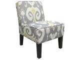 Green Ikat Darby Chair - mediterranean - chairs - - by World Market