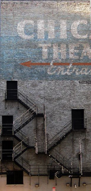 Chicago Theater Ghost Sign