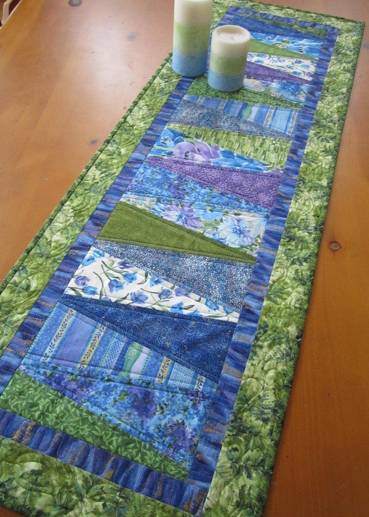 Quilted Table Runner for Spring