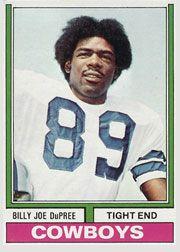 1970s Dallas Cowboy Players   Billy Joe DuPree Dallas Cowboy football cards