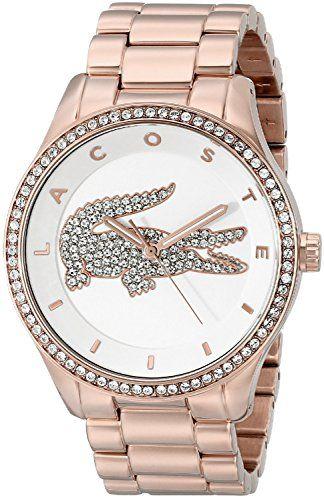 Lacoste Women's 2000828 Victoria Analog Display Japanese Quartz Rose Gold Watch -
