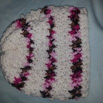 Crocheting Using Your Hands : hat will be just perfect for your little girl! Hand crocheted using ...