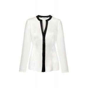 Kossmann - jedwabna biała bluzka