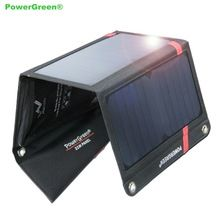 PowerGreen Foldable Solar Power Bank 21 Watts Solar Charger Solar Power Bag Portable Charging for Huawei for Meizu for LG