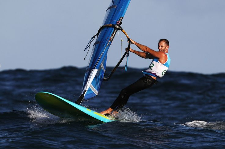 Nick Dempsey: Silver in the RS:X windsurfing (August 14)