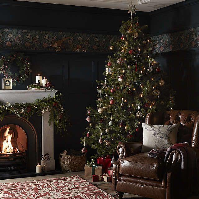 Buyjohn lewis ruskin house 7 5ft morris spruce christmas tree online at johnlewis com