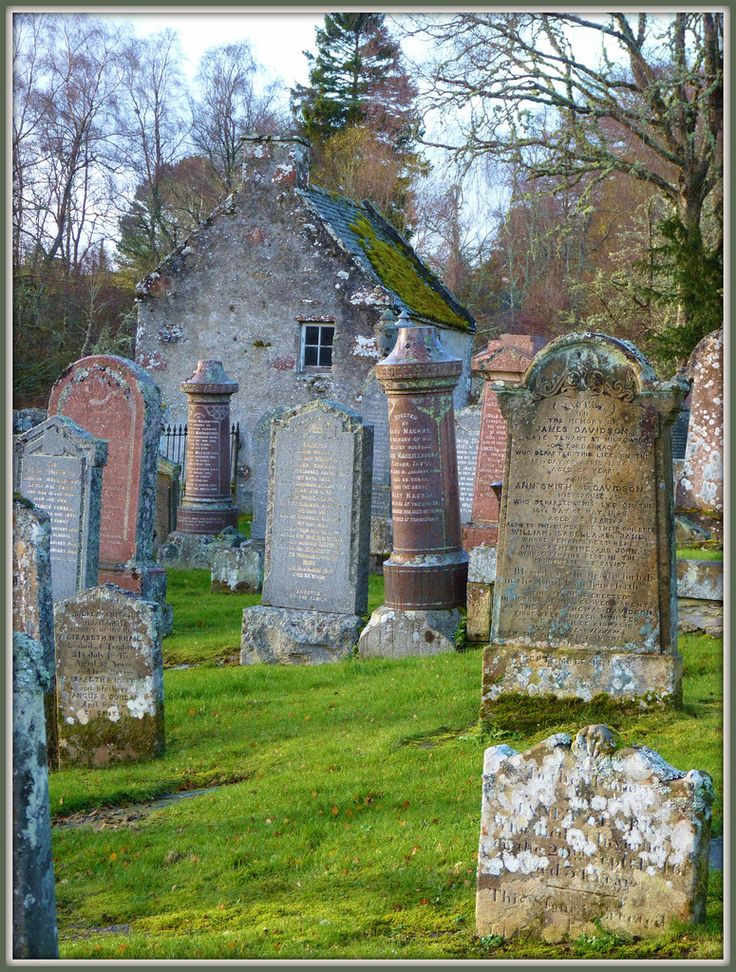 Dunlichity graveyard, a few miles south of Inverness.
