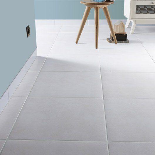 Carrelage sol et mur blanc ivoire 5 effet béton Universo l.45 x L.45 cm