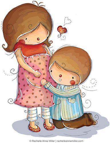 Прикольные рисунки с малышом и мамой