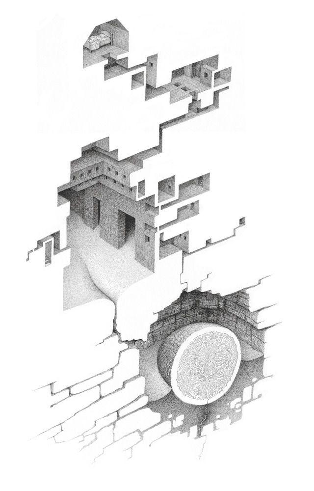 Perdido En Laberíntica Imaginación De Mathew Borrett